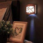 Applique murale Lampe de Chevet Lampe de Chevet Chambre veilleuse LED Rétro Allée d'armoire en Alliage d'aluminium Corps capteur Lumière, B de la marque Applique murale image 1 produit