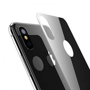 Arrière Verre Trempé iPhone X, Kolpop Film Protection Ecran Arrière [3D Couverture Complète] [Anti-empreintes digitales] Anti-Rayures Écran Protecteur Vitre pour Apple iPhone X / iPhone 10 (noir) de la marque Kolpop image 0 produit
