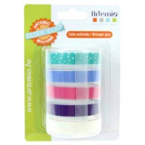Artemio 18002931 Click Click Pastel Set de 5 Recharge Rubans pour Étiqueteuse Plastique Multicolore 9 x 5 x 12,5 cm de la marque Artemio image 0 produit