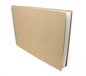 Artway Enviro - Carnet à dessin avec reliure double spirale et couverture rigide - 100 % papier cartouche recyclé - 170 g/m² - 35 pages - A3 paysage de la marque Artway image 0 produit