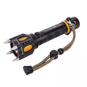 Asvert T6 lampe de poche LED zoomable 5 modes de lumière avec 18650 batteries rechargeables chargeur mural et tube de batterie pour le vélo, le camping, la randonnée, Noir de la marque Asvert image 0 produit