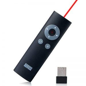 August LP200 Mini Pointeur Laser Rouge Dispositif Sans Fil Multimédia / Wireless Presenter - Télécommande de Présentation PowerPoint avec Touches Raccourcis - Portée de 15m - Pile Incluse - Compatible avec Windows 10 / 8.1 / 8 / Vista / XP / Linux / MAC / image 0 produit