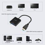 AUKEY Adaptateur HDMI vers VGA 1080P Convertisseur HDMI Mâle à VGA Femelle Compatible avec PC, TV Box, HDTV, Ultrabook, Xbox - Noir de la marque AUKEY image 2 produit