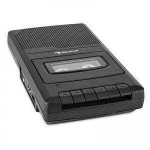 auna RQ-132 Lecteur cassette portable dictaphone enregistreur (enceinte intégrée pour une diffusion directe, prise microphone, sortie casque, extinction automatique) de la marque Auna image 0 produit