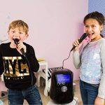 """auna Stage Hero • chaîne karaoké pour enfants • Bluetooth • écran TFT 7"""" • lecteur DVD • 2 microphones • port USB • sortie vidéo et audio • effet écho • fonction A.V.C. • télécommande • noir de la marque Auna image 1 produit"""