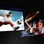 Auntwhale Pliable 16: 9 HD Display 70 pouces Écran de projection Polyester Projection Rideau Home Cinéma Courts extérieurs 88 × 155cm Fond blanc + bord noir de la marque Auntwhale image 1 produit
