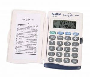 Aurora HC-165–Calculatrice, couleur blanche, 94x 57x 9,5mm de la marque Aurora image 0 produit