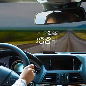 Autool 12V X220Digital Auto Voiture HUD OBD Head Up Display KM/H MPH Compteur de vitesse d'alarme de la Engine Trouble Alarme de voiture pare-brise Vidéoprojecteur avec film réfléchissant pour la plupart des véhicules domestiques de la marque Autoo image 0 produit