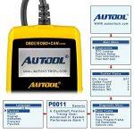 Autool CS320 Scanner de code de véhicule de voiture d'OBD2,des codes de lecture et d'effacement d'erreur pour 1996 ou plus tard le véhicule américain, européen et asiatique de protocole OBD2 de la marque Autool image 2 produit