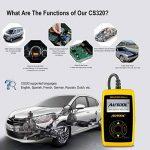 Autool CS320 Scanner de code de véhicule de voiture d'OBD2,des codes de lecture et d'effacement d'erreur pour 1996 ou plus tard le véhicule américain, européen et asiatique de protocole OBD2 de la marque Autool image 1 produit