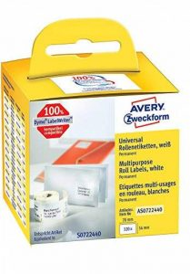 Avery 1 Rouleau d'étiquettes Multiusage - 70x54mm - Autocollant permanent - 320 étiquettes (AS0722440) de la marque Avery image 0 produit