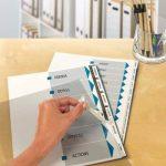 Avery Kit pour Reliures (Intercalaires Non Perforés Imprimables, Spirale et dos Cartonné Inclus) - A4-6 Touches - Blanc (L7455-6) de la marque Avery image 1 produit