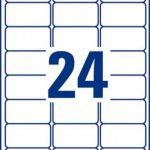 Avery L7159 Boîte de 240 Etiquettes Autocollantes pour Timbres (24 par Feuille) - 63,5x33,9mm - Impression Laser - Blanc de la marque Avery image 1 produit