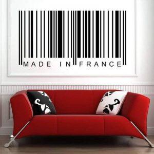 azutura Fabriqué en France Autocollant mural code à barre Sticker Art Décoration de maison disponible en 5 dimensions et 25 couleurs Moyen La glace Bleu de la marque azutura image 0 produit