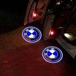B M w Porte de voiture lumières LED 3d de voiture fantôme Ombre lumière d'entrée d'éclairage Bienvenue Vidéoprojecteur lampe Logo lumière de la marque Knragho image 1 produit