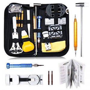 BABAN 147pcs montres Instruments/Regarde professionnelle Kit Repair Tool, Kit de réparation Étui pour montre arrière, dispositif de suppression du lien broches d'ouverture etc. de la marque BABAN image 0 produit