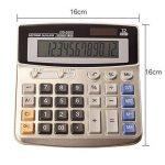 BAIYOU calculatrice, calculatrice de bureau 12 chiffres Grand écran électronique calculatrice solaire et pile AA (non incluse) double alimentation de la marque BAIYOU image 1 produit