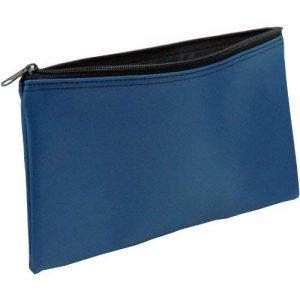 banque de vinyle Deposit/fermeture Éclair Sac de pièce de monnaie, 27,9x 15,2cm Bleu de la marque Securit image 0 produit