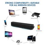 Barre de son, haut-parleur Bluetooth Soundbar, filaire et sans fil Haut-parleur stéréo 20W HD Audio, musique basse, Cinéma maison portable Haut-parleur TV Surround Sound Bar pour PC, téléphone portable, TV, projecteur de tablette de la marque COOLtry image 3 produit