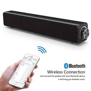 Barre de son, haut-parleur Bluetooth Soundbar, filaire et sans fil Haut-parleur stéréo 20W HD Audio, musique basse, Cinéma maison portable Haut-parleur TV Surround Sound Bar pour PC, téléphone portable, TV, projecteur de tablette de la marque COOLtry image 0 produit