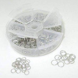 Bastel Express Anneaux de reliure ouverts Couleur platine 4 à 10 mm Dans une boîte en plastique ronde de la marque Bastel Express image 0 produit