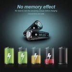 Batterie 18650 Rechargeable Li-ION Accus 18650 Lithium-ION Capacité Réelle 2200mAh 3.7V avec boîtier de Rangement 2 Pièces de la marque ZXW image 3 produit