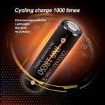 Batterie 18650 Rechargeable Li-ION Accus 18650 Lithium-ION Capacité Réelle 2200mAh 3.7V avec boîtier de Rangement 2 Pièces de la marque ZXW image 4 produit