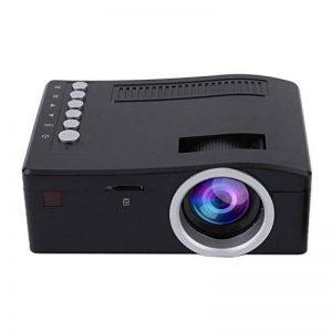 Blackpoolal uc18 HD 1080P Mini Portable TFT LCD Vidéoprojecteur AV/USB/TF/Photo Vidéo HDMI Home Cinéma Projector LED Mini Retroprojecteur (Noir) de la marque Blackpoolal image 0 produit
