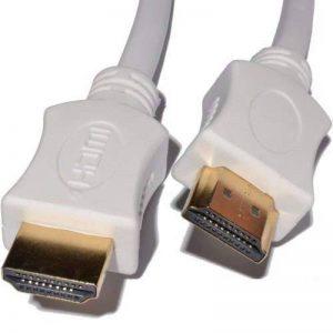 Blanc Fil de câble HDMI vers HDMI plomb Doré connecteur rapide Version 1.4High Speed avec Ethernet Or Connecteurs pour Sony, Panasonic, Samsung, JVC, LG, Sharp, Plasma, LED, LCD, TV, HD, TV, S, Xbox 360, One, Plus, PS3, PS4,Sky Digital, HDTV, Blu-Ray, le image 0 produit