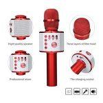 Bluetooth Microphone Karaoké, NASUM sans fil 4.1 de haut-parleur de Machine pour la voix et chant Enregistrement, pour adultes et enfants compatible avec Android/IOS, PC ou tout smartphone de la marque NASUM image 1 produit