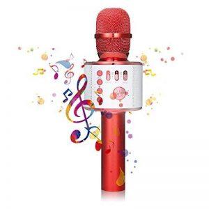 Bluetooth Microphone Karaoké, NASUM sans fil 4.1 de haut-parleur de Machine pour la voix et chant Enregistrement, pour adultes et enfants compatible avec Android/IOS, PC ou tout smartphone de la marque NASUM image 0 produit