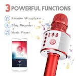 Bluetooth Microphone Karaoké, NASUM sans fil 4.1 de haut-parleur de Machine pour la voix et chant Enregistrement, pour adultes et enfants compatible avec Android/IOS, PC ou tout smartphone de la marque NASUM image 2 produit
