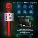 Bluetooth Microphone Karaoké, NASUM sans fil 4.1 de haut-parleur de Machine pour la voix et chant Enregistrement, pour adultes et enfants compatible avec Android/IOS, PC ou tout smartphone de la marque NASUM image 3 produit