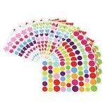 Borte 18Feuilles Stickers, Stickers et récompense, 3Formes Craft Stickers, Couleurs Assorties, faciles à décoller la Programmation étiquette pour Scrapbooking de la marque Borte image 1 produit