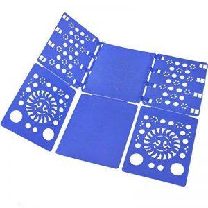 BoxLegend Planche a plier le linge - plieur de linge vêtement chemise t shirt tee shirts enfant adulte 57 x 70 cm bleu de la marque BoxLegend image 0 produit