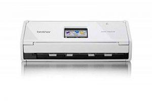 Brother ADS-1600W Scanner Compact |A4|Recto-Verso|18 ppm |Scan vers Cloud | Wi-Fi | Ecran Tactile Couleur |Chargeur 20 Feuilles |Couleur| Noir/Blanc| Scan to USB de la marque Brother image 0 produit
