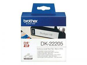 Brother Original DK22205 Noir sur Blanc Papier Thermique de la marque Brother image 0 produit