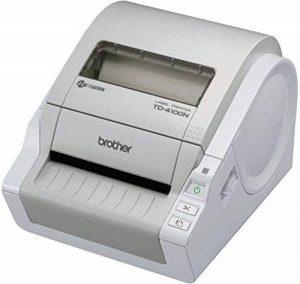 Brother TD-4100N Imprimante d'étiquettes professionnelle 4 pouces |idéale gros volume |résolution 300dpi | Ruban RD 12 à 102mm | connexion Ethernet| 69 étiquettes/min de la marque Brother image 0 produit