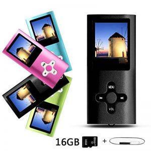 Btopllc Lecteur MP3 , lecteur MP4, lecteur de musique, lecteur MP3 / MP4 LCD de 1,7 pouce portable, lecteur de carte multimédia 16 Go, mini-port USB Câble USB, lecteur de musique MP3 Hi-Fi, enregistreur vocal - Noir de la marque Btopllc image 0 produit