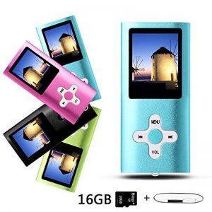 Btopllc Lecteur MP3 / MP4, lecteur de musique, lecteur MP3 / MP4 portable, lecteur de carte multimédia 16 Go, mini-port USB câble USB, lecteur de musique Hi-Fi MP3, enregistreur vocal - bleu de la marque Btopllc image 0 produit