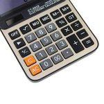 BXT Georgie Calculatrice Mode Numérique Graphique Creative Machine à Calculer Batterie Fournir l'électricité Calculatrice Electrique avec 12 Chiffres Fourniture pour Bureau Maison Couleur- Argent de la marque BXT image 3 produit