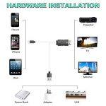 Cable Lightning HDMI, Baseus 2M / 6.5FT Nylon pour Câble Lightning vers HDMI Prise en Charge AV Vidéo HDTV 4K Adaptateur HDTV avec écran Identique pour Apple iPhone X / 8/7/6/5 Projecteur TV vers un Périphérique HDMI Plug and Play de la marque Baseus image 3 produit