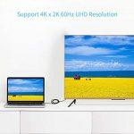 Câble USB C vers HDMI type C vers câble HDMI mâle vers mâle 4K 60Hz pour Apple Nouveau MacBook Pro MacBook 2016Samsung Galaxy S8S8+ Dell XPS15Acer Spin 7au moniteur HDTV Vidéoprojecteur de la marque YOJOCK image 4 produit