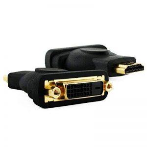 Cablesson Câble/Adaptateur HDMI Mâle vers DVI Femelle de pour moniteur et affichage. Convertisseur vidéo HDMI vers DVI-D - pour TVs HD, LCD, Plasma, DVD, Projecteur et moniteur DVI 1080p de la marque Cablesson image 0 produit