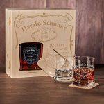 Caisse en bois avec jack Daniel's single baril Tennessee Whiskey | 6pièces Whisky Coffret cadeau incluant la Gravure motif–Quality Whisky de la marque polar-effekt image 2 produit