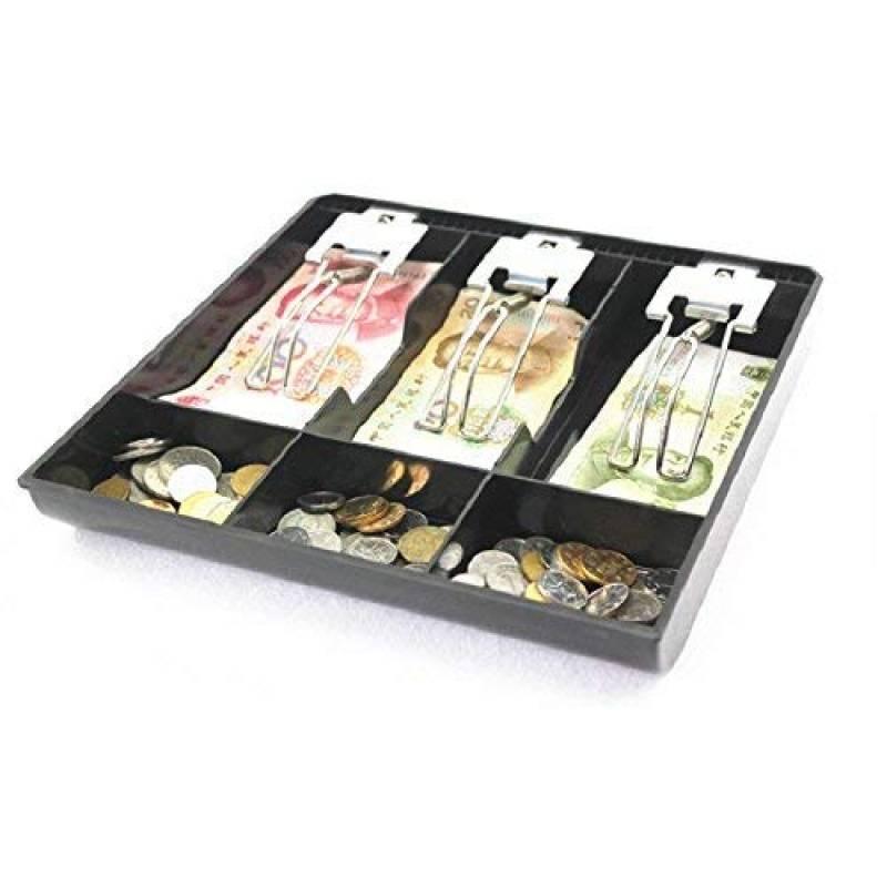 couleur: noir Plateau /à billets facile /à installer l/éger et facile /à installer Magasin Magasin tiroir-caisse Caisse enregistreuse de s/écurit/é Bo/îte de rangement pour tiroir-caisse /à billets