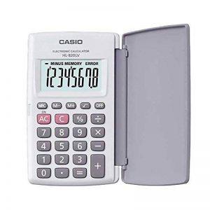 Calculadora Casio de Bolsillo HL-820-LV-WE Blanca con Tapa Protectora que gira 360º Pantalla Grande Numeros Grandes Porcentajes Raices Cuadradas de la marque Casio image 0 produit