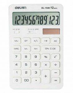 Calculatrice de base de la batterie solaire 12 chiffres Compack Design [Blanc] de la marque Alien Storehouse image 0 produit