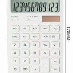Calculatrice de base de la batterie solaire 12 chiffres Compack Design [Blanc] de la marque Alien Storehouse image 1 produit