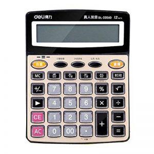 Calculatrice de bureau de calculatrice de voix pour le bureau à la maison d'école de la marque Black Temptation image 0 produit